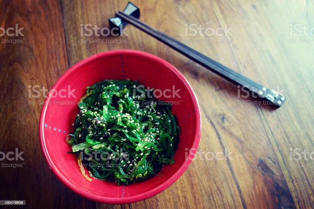Japanese cuisine – seaweed salad stock photo