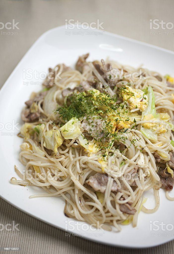 Japanese Cuisine S?men chanpur? (??????????) royalty-free stock photo
