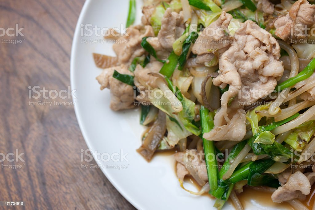 Japanese Cuisine Stir fried vegetables (yasai itame) royalty-free stock photo