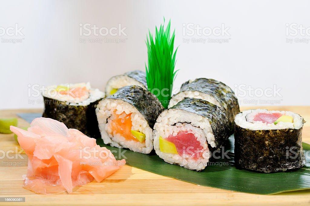 Japanese Cuisine Sushi royalty-free stock photo