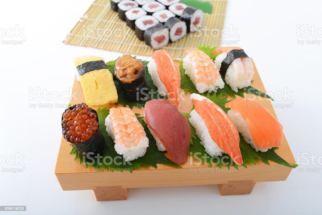 Japanese cuisine, Sushi stock photo