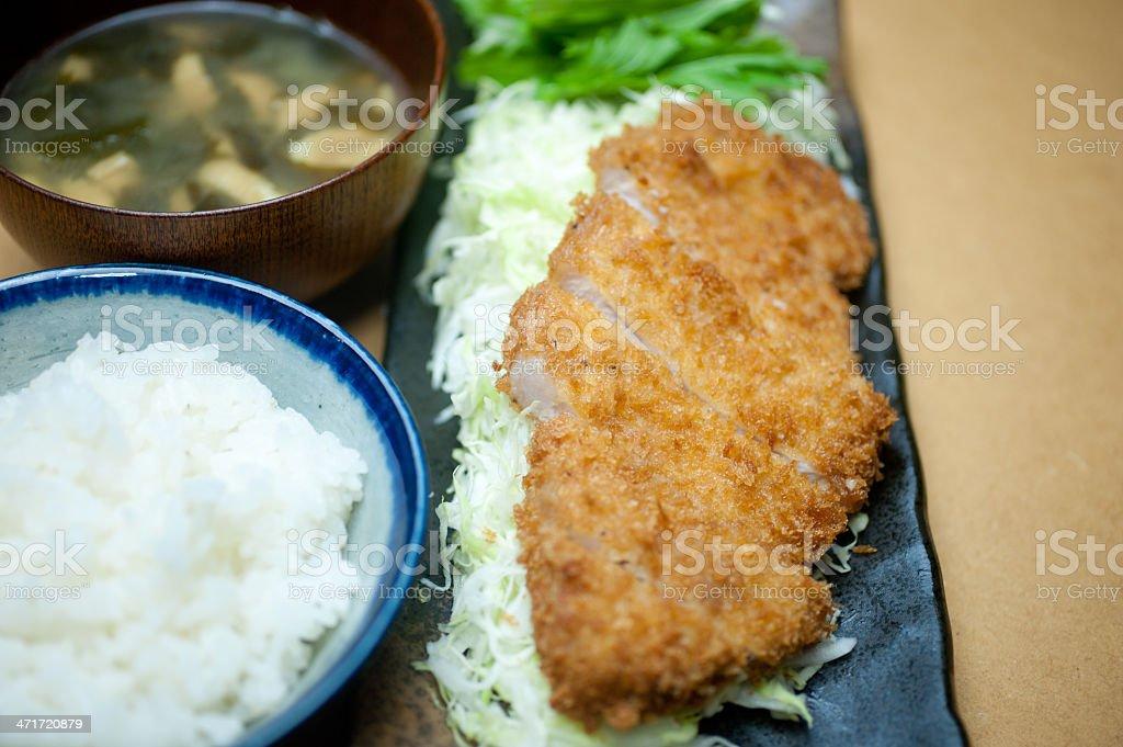 Japanese cuisine Tonkatsu royalty-free stock photo