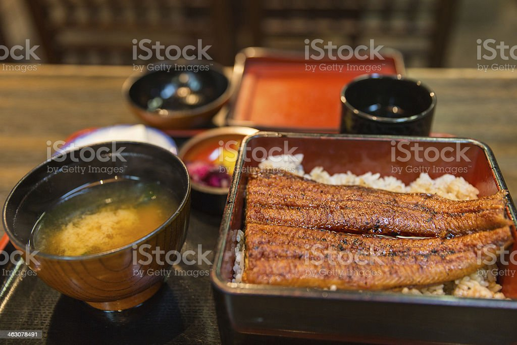 Japanese Cuisine Unagi stock photo