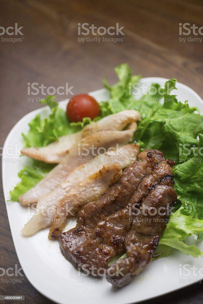 Japanese Cuisine Yakiniku ('grilled meat' ??) royalty-free stock photo