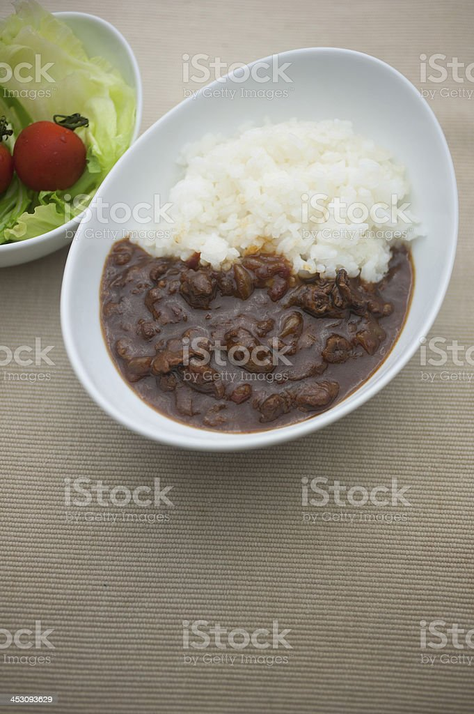 Japanese Cuisine?Hashed beef rice (Hayashi raisu) stock photo