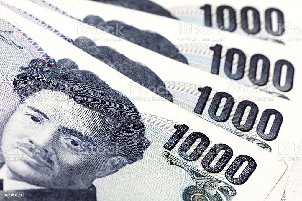 Japanische Währung Lizenzfreies stock-foto