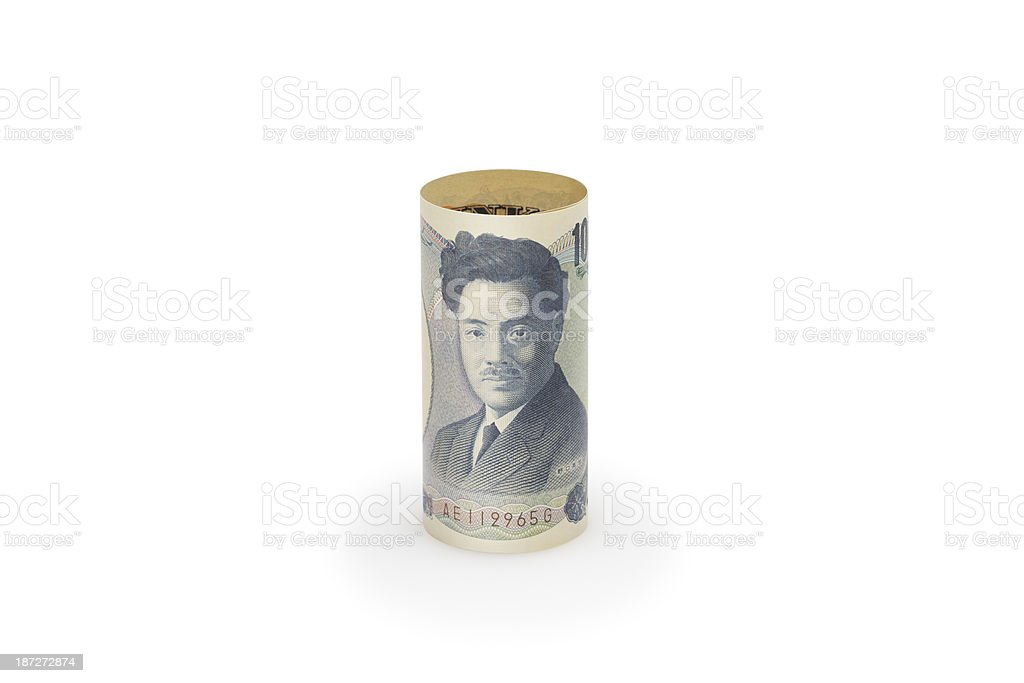Japanese currency royalty-free stock photo