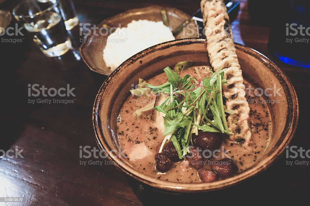 Japanese curry soup stock photo