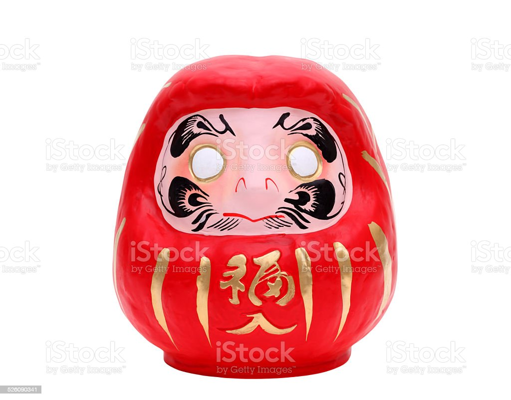 Japanese daruma lucky doll stock photo