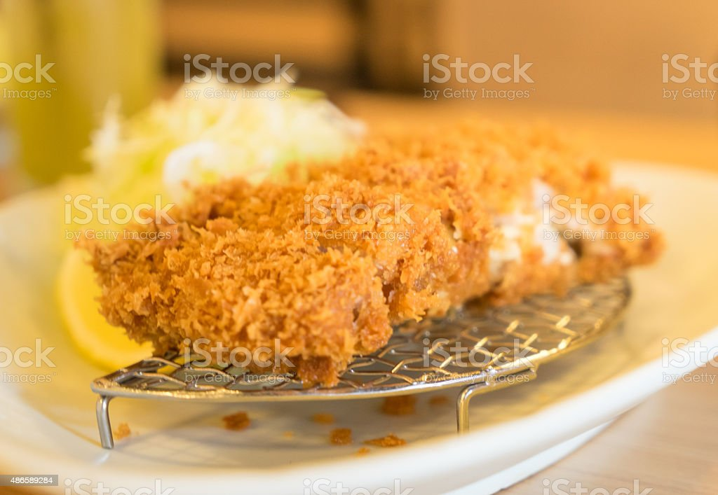 Japanese Deep Fried Pork stock photo