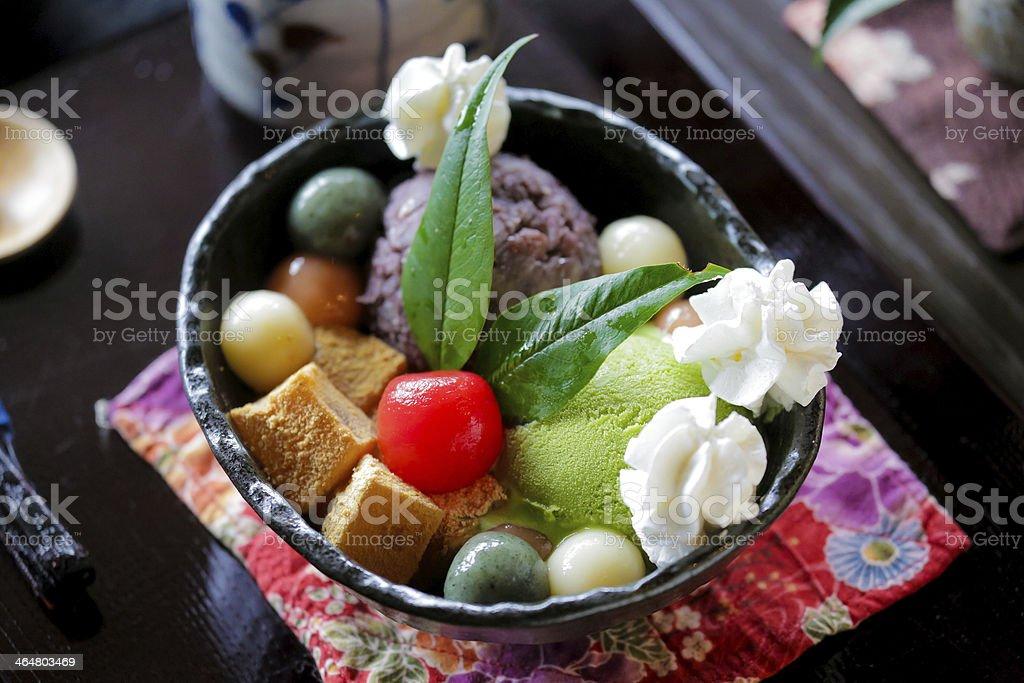 Japanese dessert stock photo