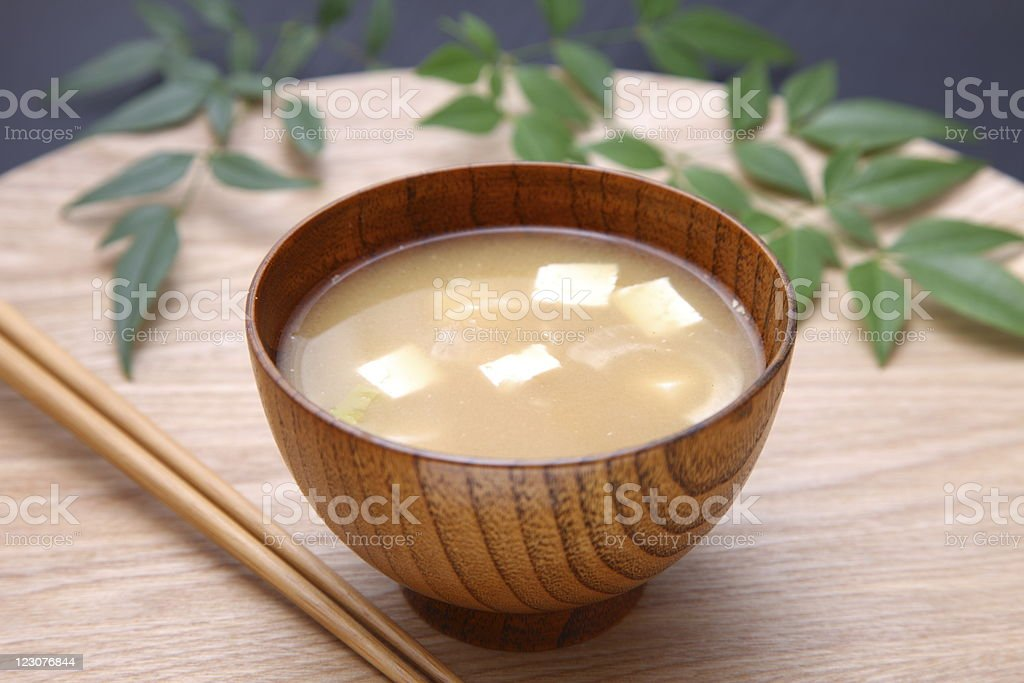 japanese dish 'miso soup' stock photo