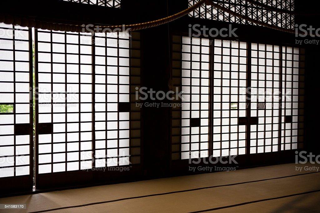 japanese door Shoji stock photo