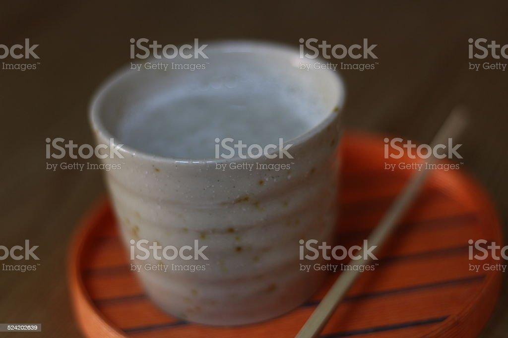 Japanese Drink - Hot Amazake, Kyoto, Japan stock photo