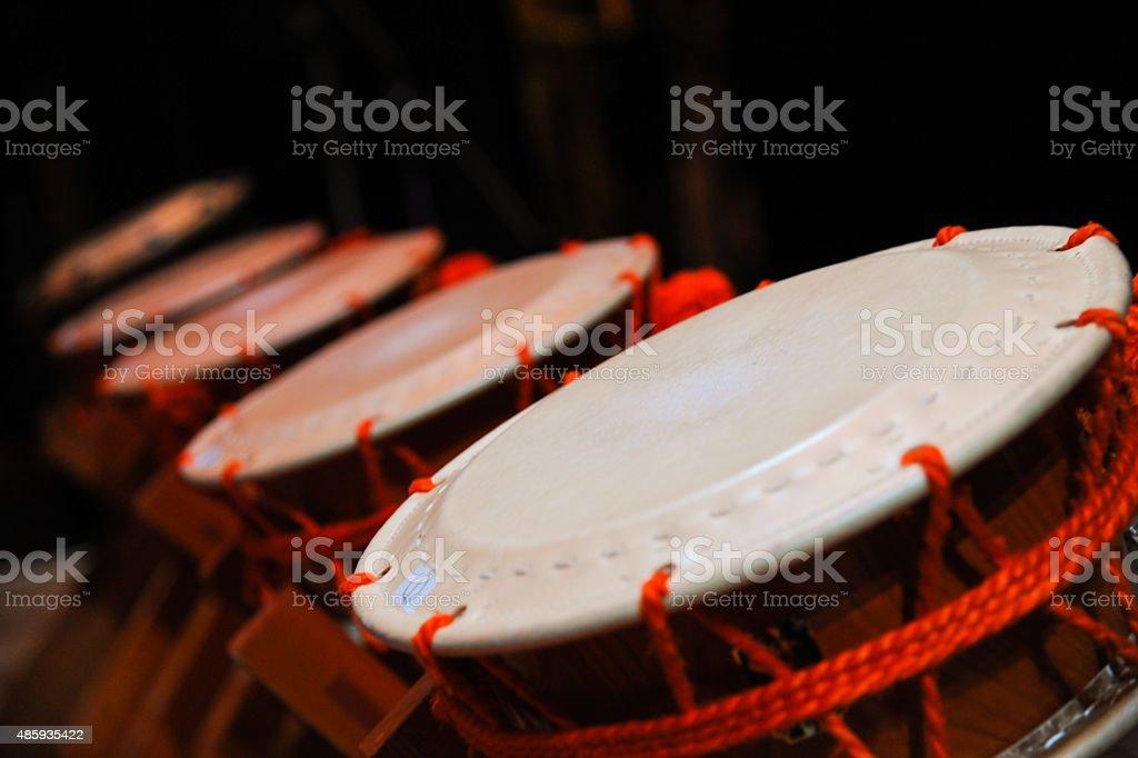 Japanese drums  Taiko stock photo