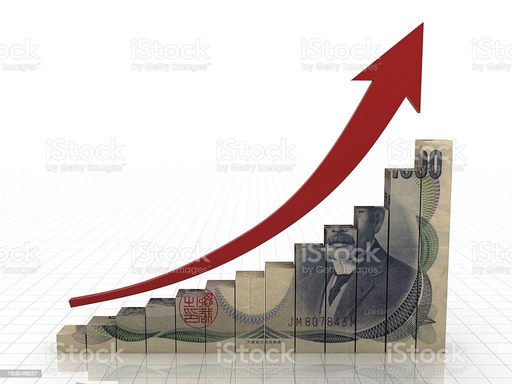 Japanese Economics Growth royalty-free stock photo