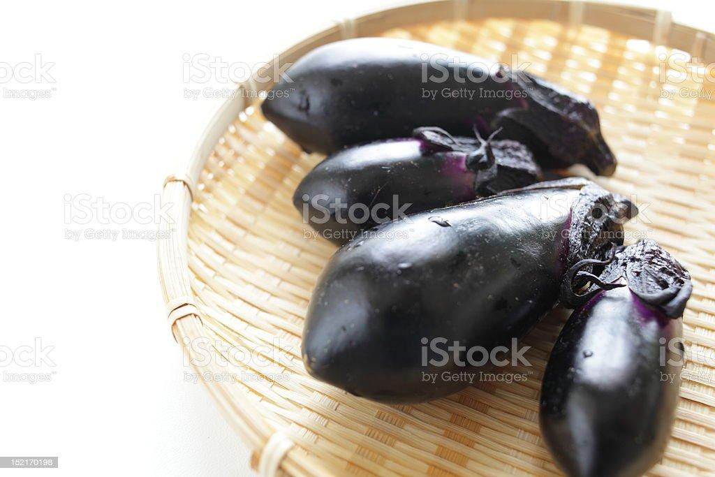 Japanese eggplants stock photo
