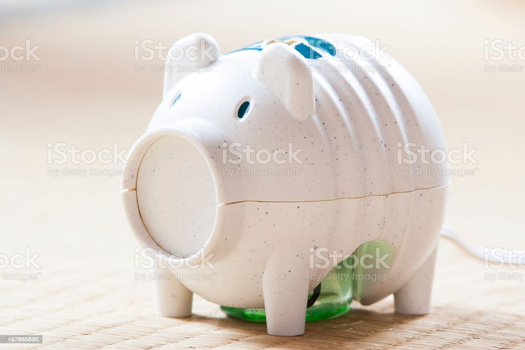 Japanese electric pig-shaped mosquito fogger device stock photo