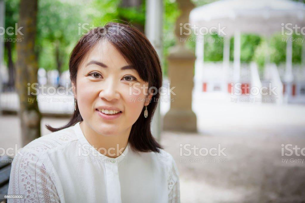 Japanese Families stock photo