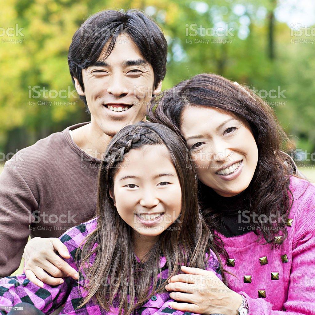 Japanese family royalty-free stock photo