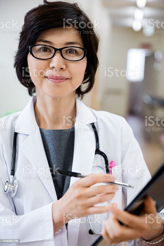 Japanese Female Doctor stock photo