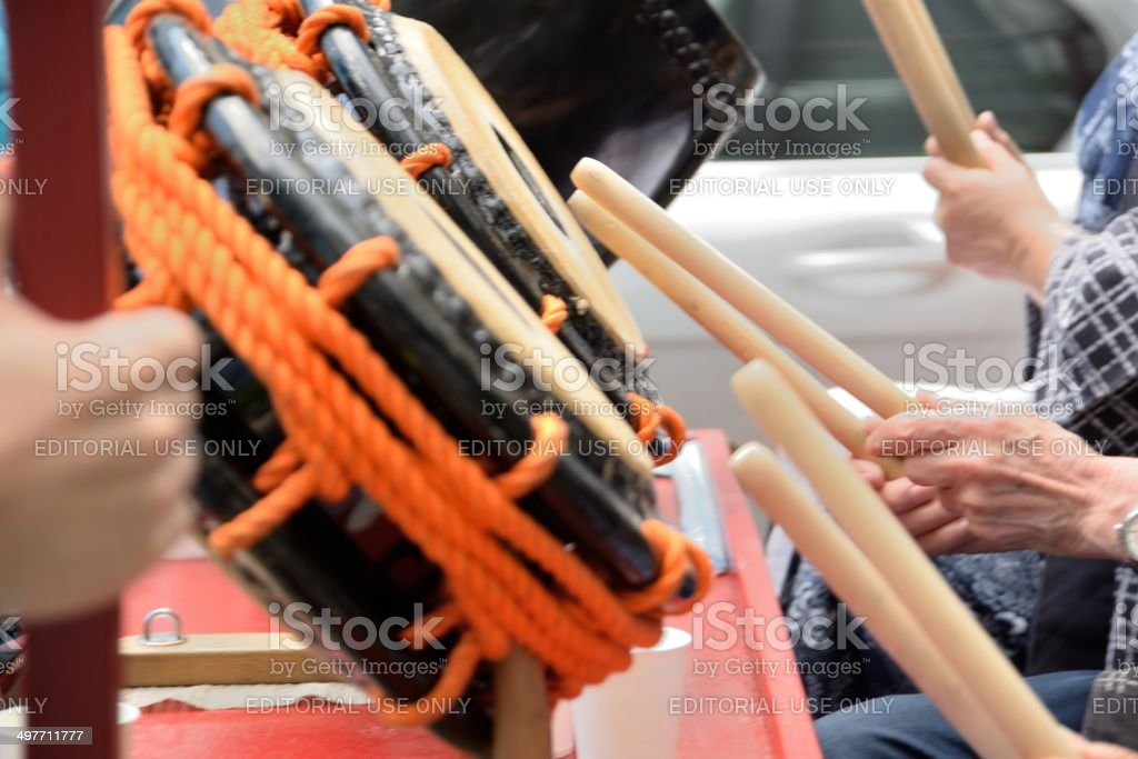 Japanese festival royalty-free stock photo