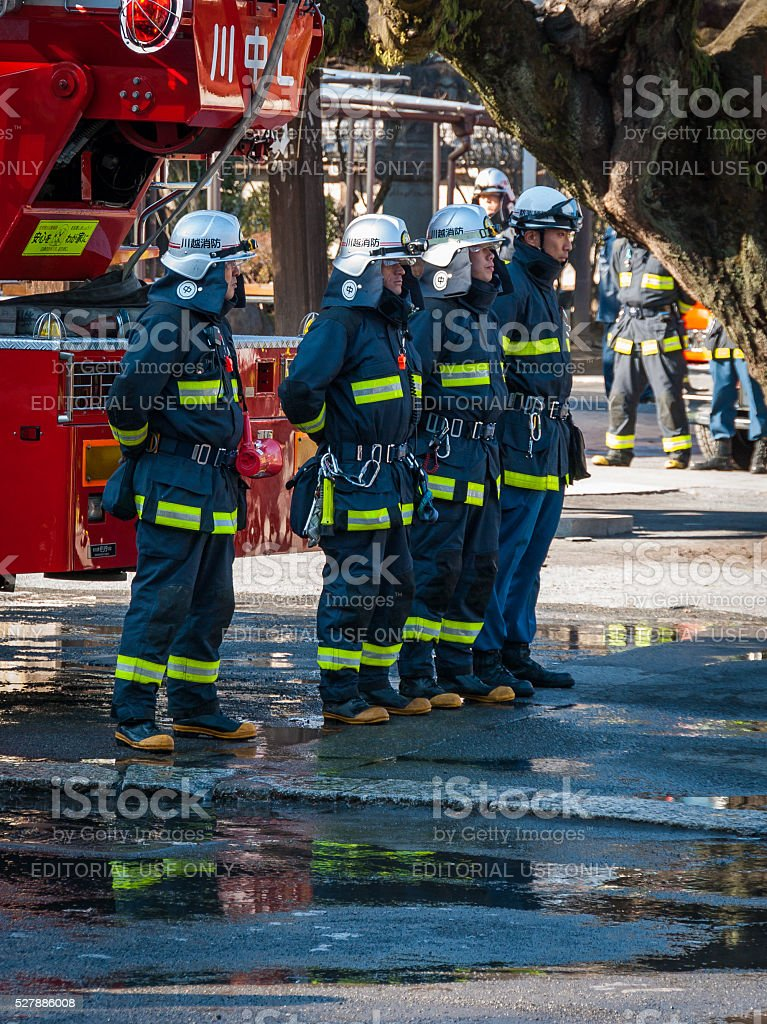 Japanese Firefighters stock photo