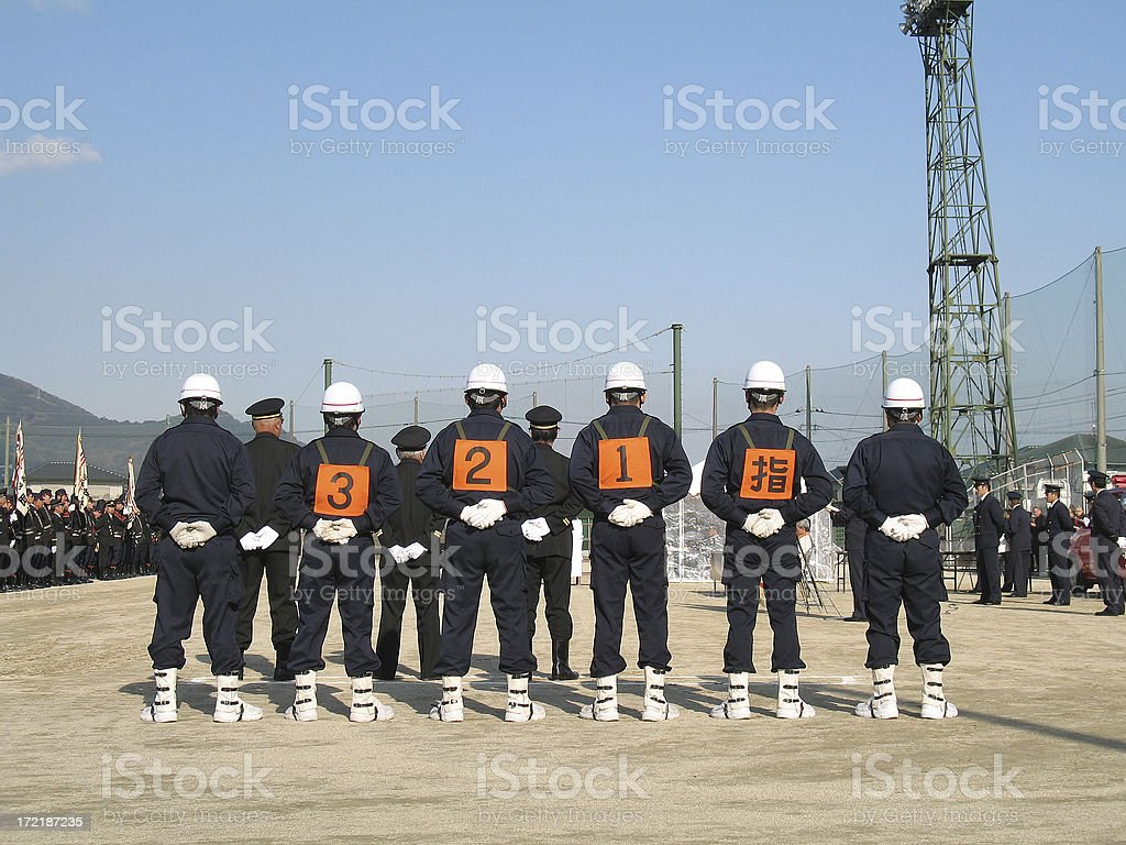 Japanese Firemen royalty-free stock photo
