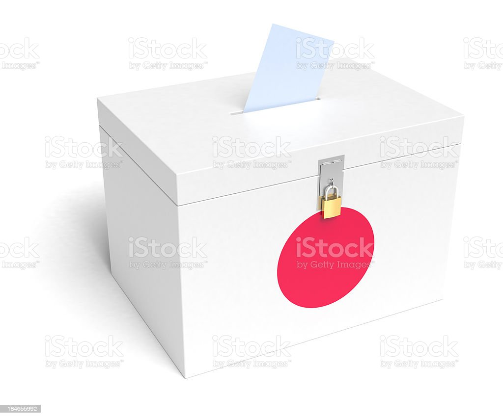 Japanese Flag Ballot Box royalty-free stock photo