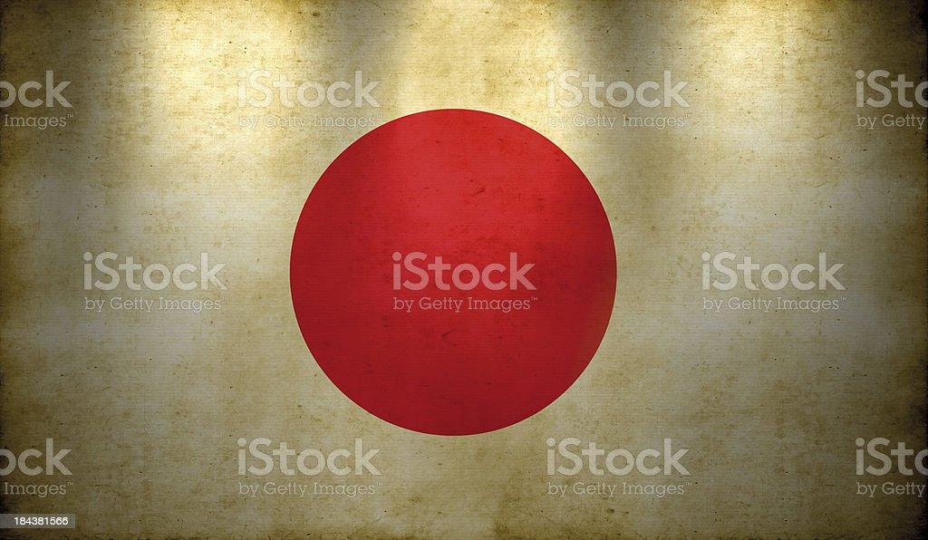 Japanese Flag Grunge Wallpaper royalty-free stock photo