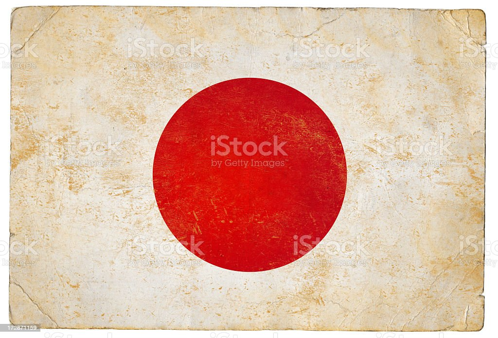Japanese flag stock photo