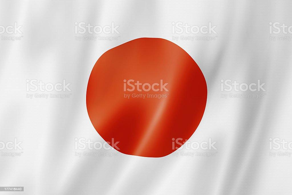 Japanese flag royalty-free stock photo