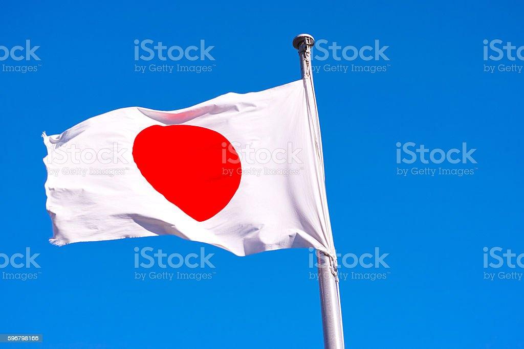 Japanese flag stock photo