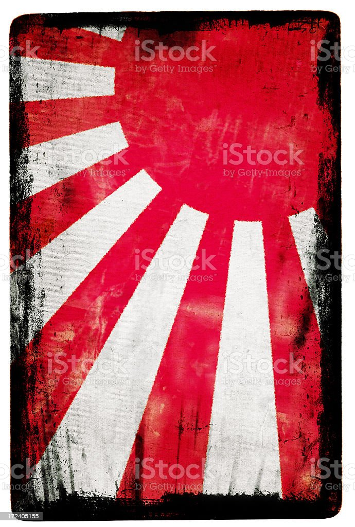 Japanese Flag XXL stock photo