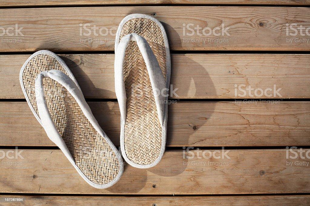Japanese flip flop royalty-free stock photo