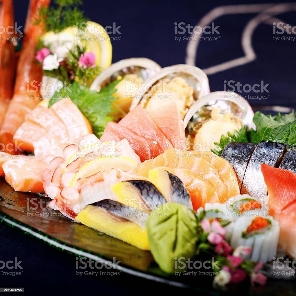 Japanese food Background stock photo