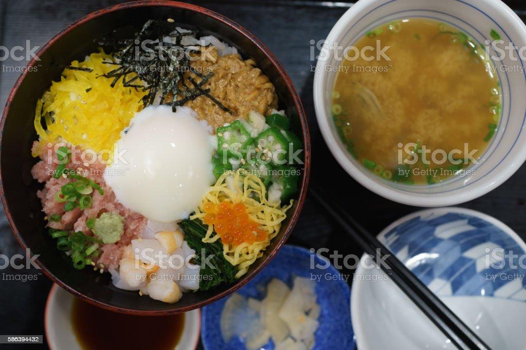 Japanese food, Don stock photo