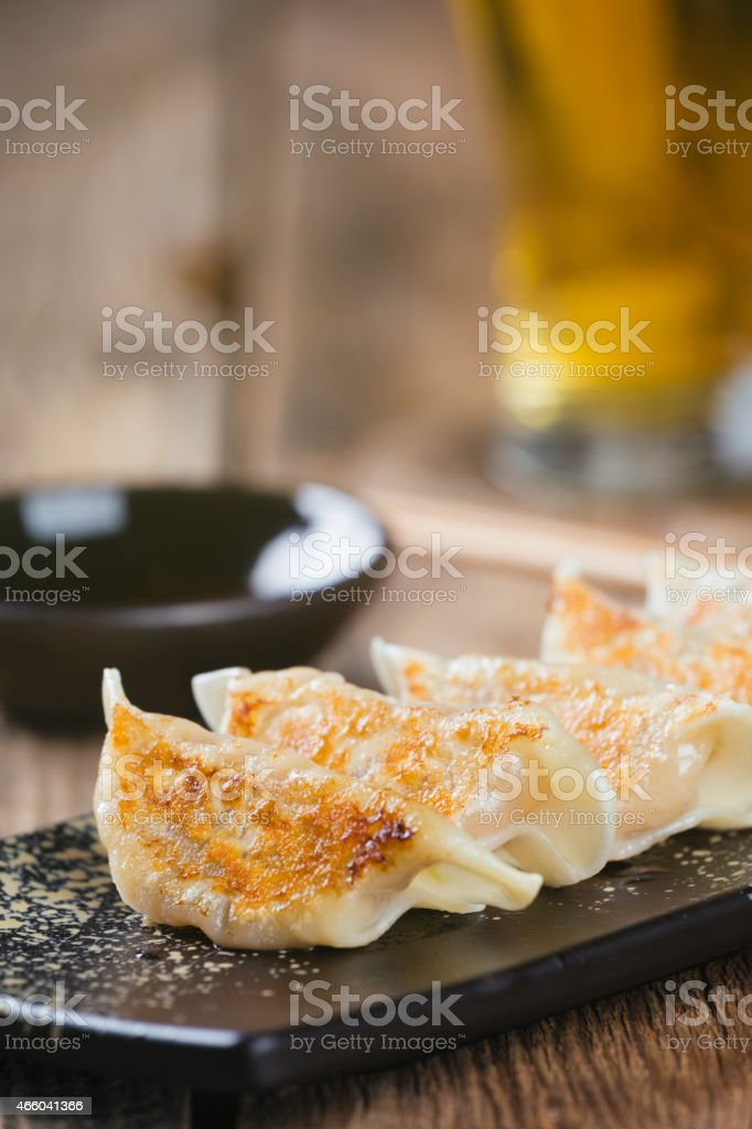 Japanese Food Gyoza stock photo