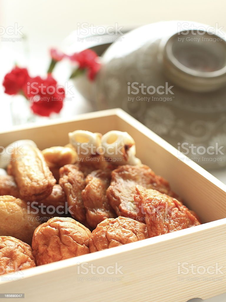 Japanese food ingredient, fish cake for Oden stock photo