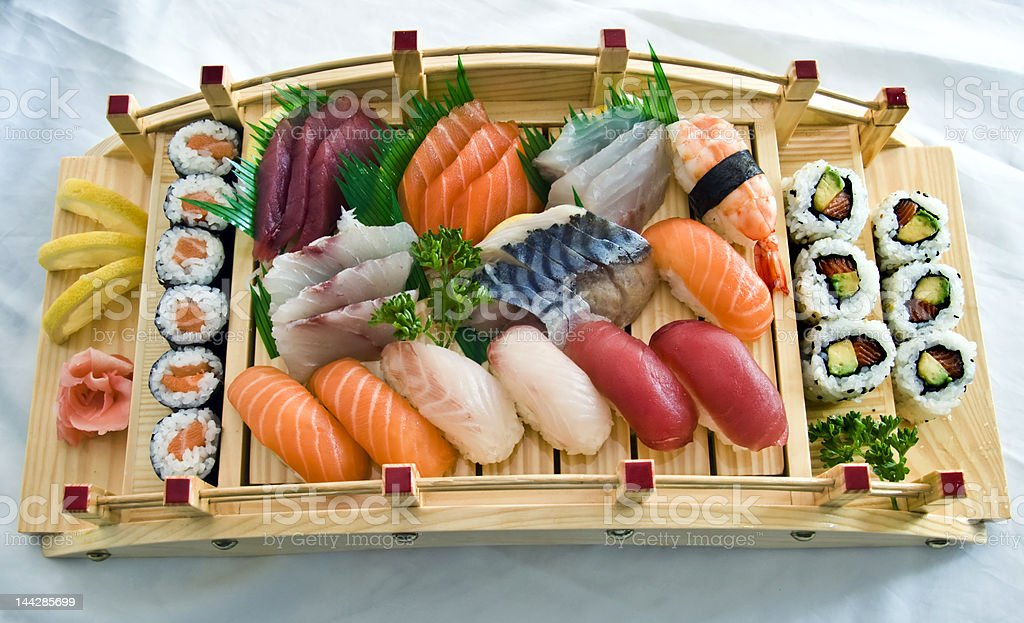 Japanese Food,  Menu for two stock photo