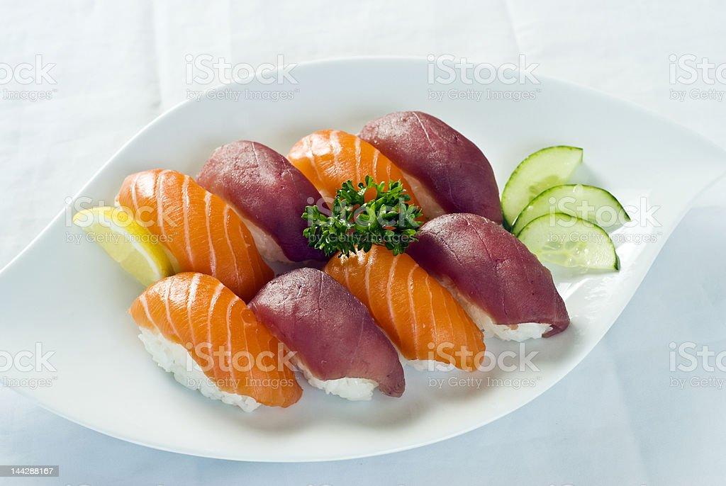 Japanese Food,  Menu of Mixed Sushi royalty-free stock photo