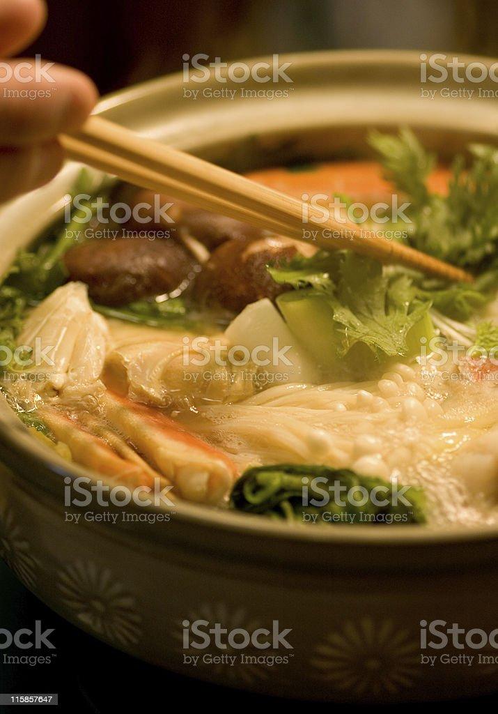 Japanese food - Nabe stock photo