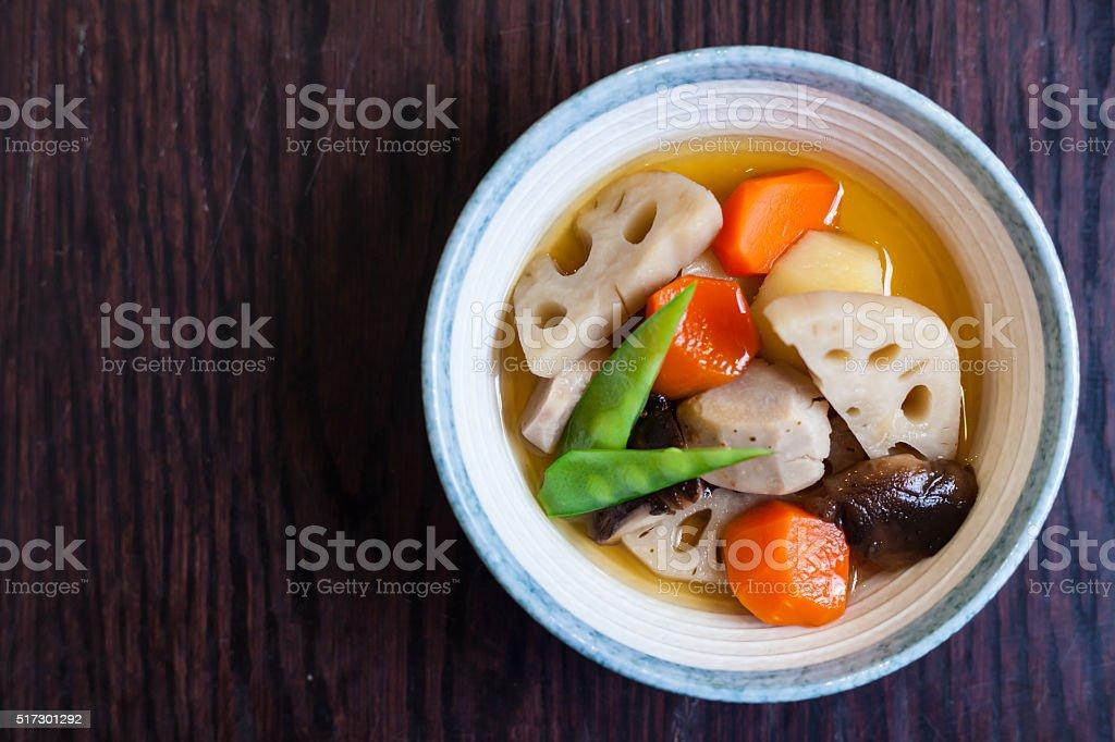 Japanese food(kenchinjiru) stock photo