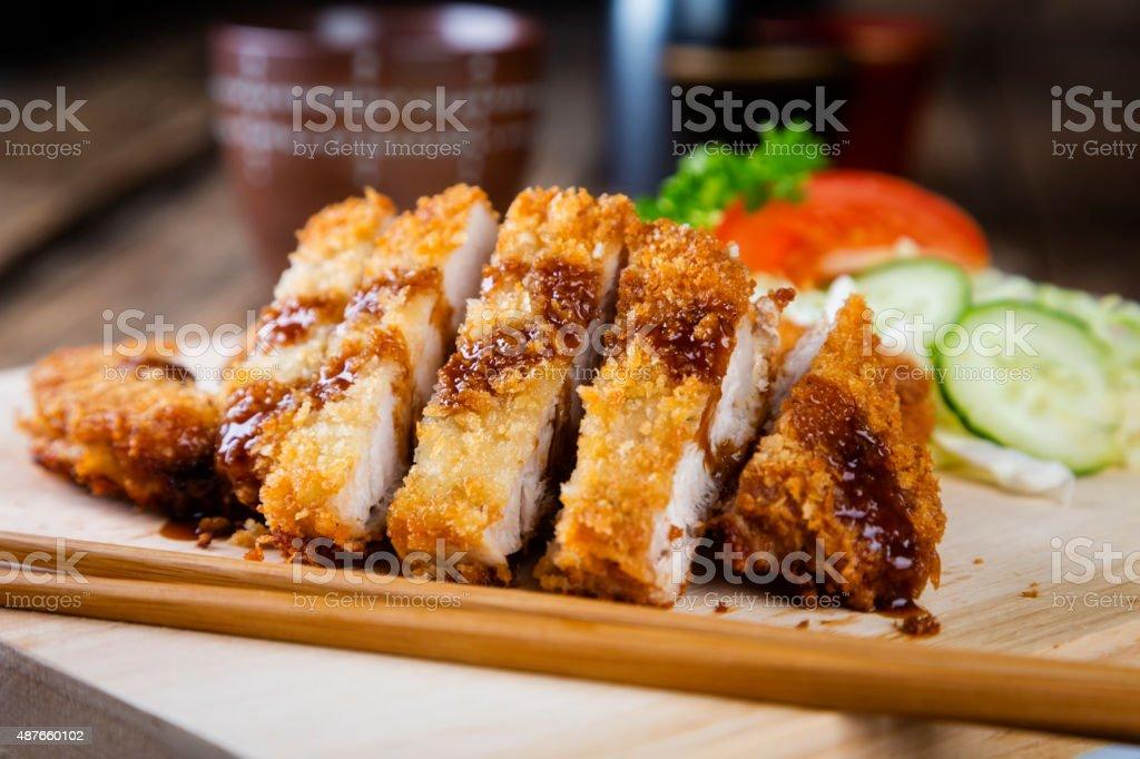Japanese Food Pork Tonkatsu stock photo
