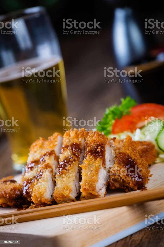 Japanese Food Pork Tonkatsu stock photo