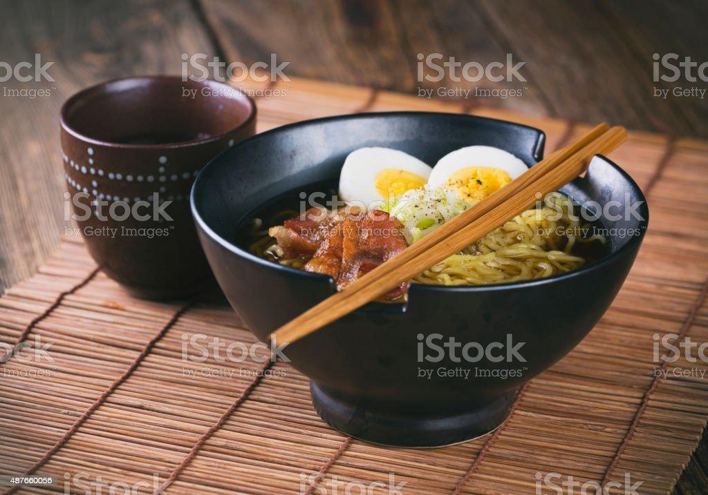 Japanese Food Ramen Noodles stock photo