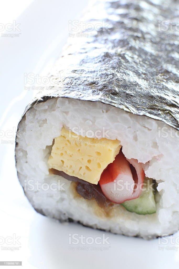 japanese food, roll sushi for seasaon festival Ehomaki royalty-free stock photo