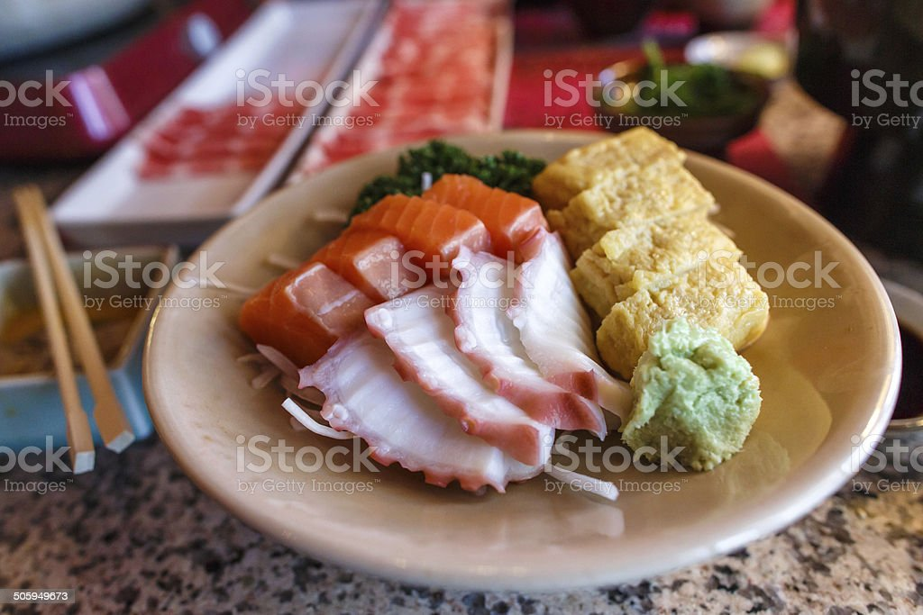 Japanese food sashimi set royalty-free stock photo