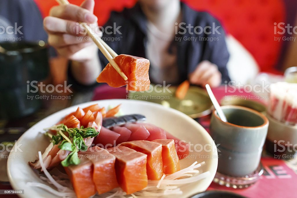 Japanese food sashimi set stock photo