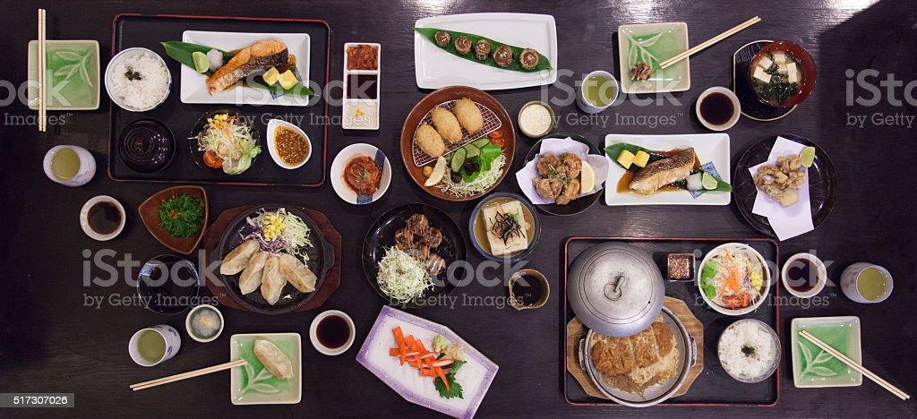 Japanese food set stock photo
